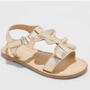 🆕️ 《Cat & Jack》Infant Gold Sandals Size 7